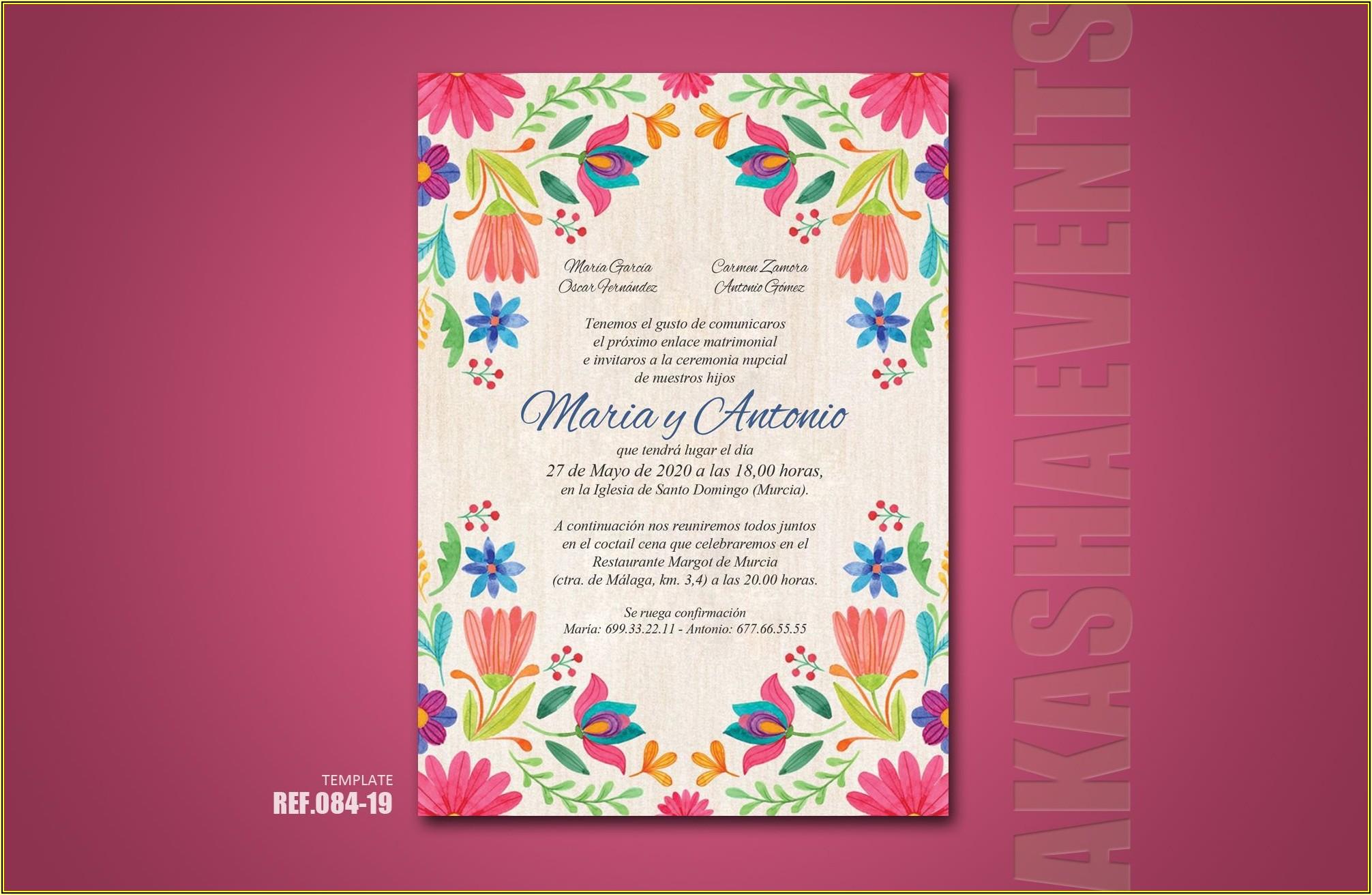 Mexican Theme Invitation Template