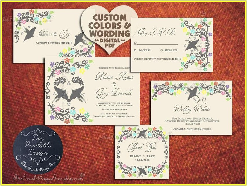 Mexican Wedding Invitation Template