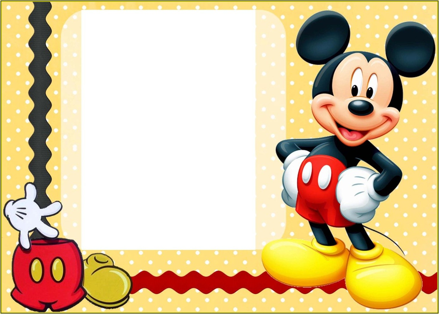 Mickey Mouse Birthday Invitation Template Free Download