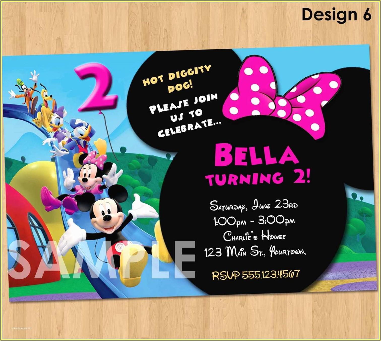 Mickey Mouse Birthday Party Invitations Templates