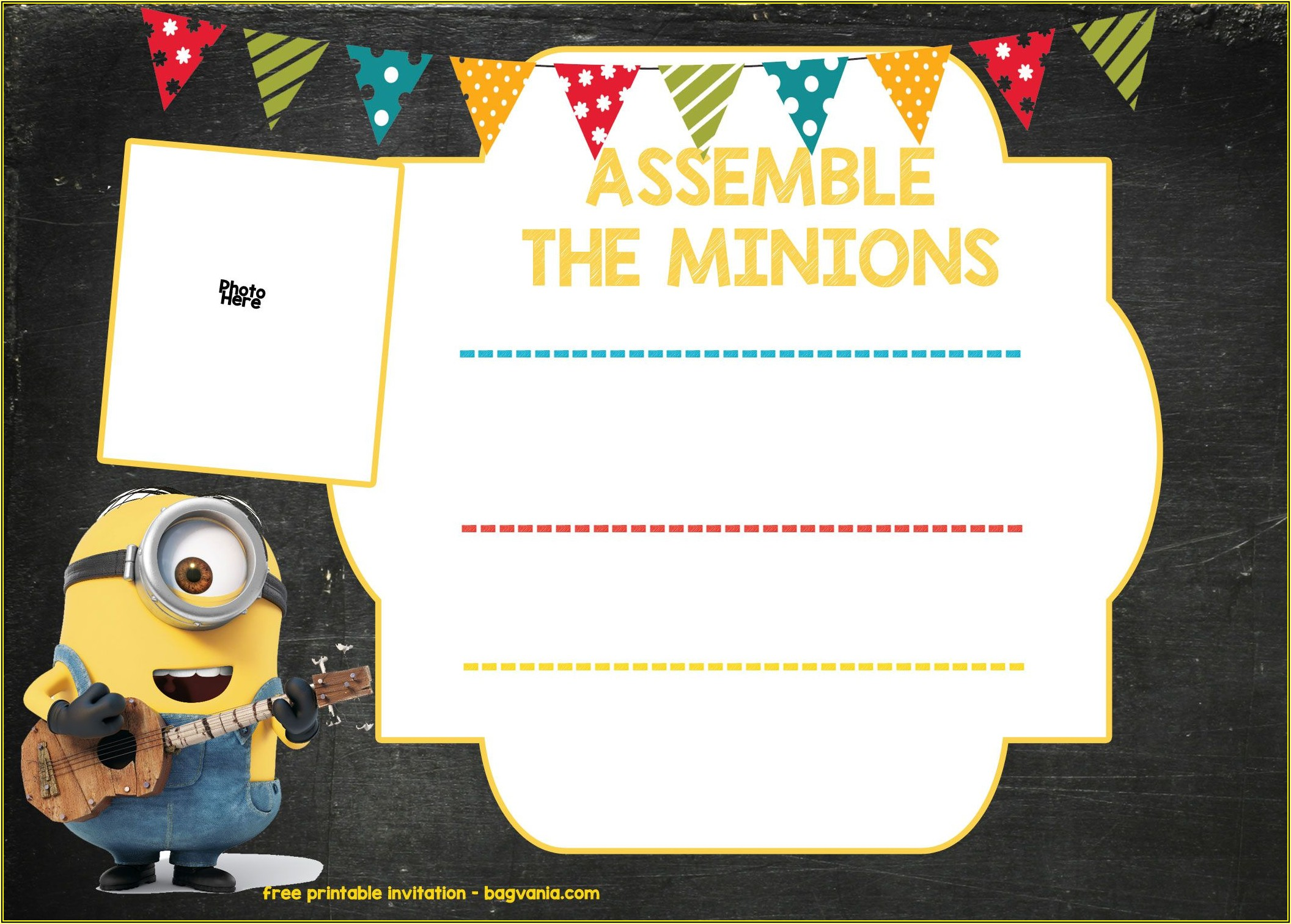 Minion Birthday Invitation Template Free Download