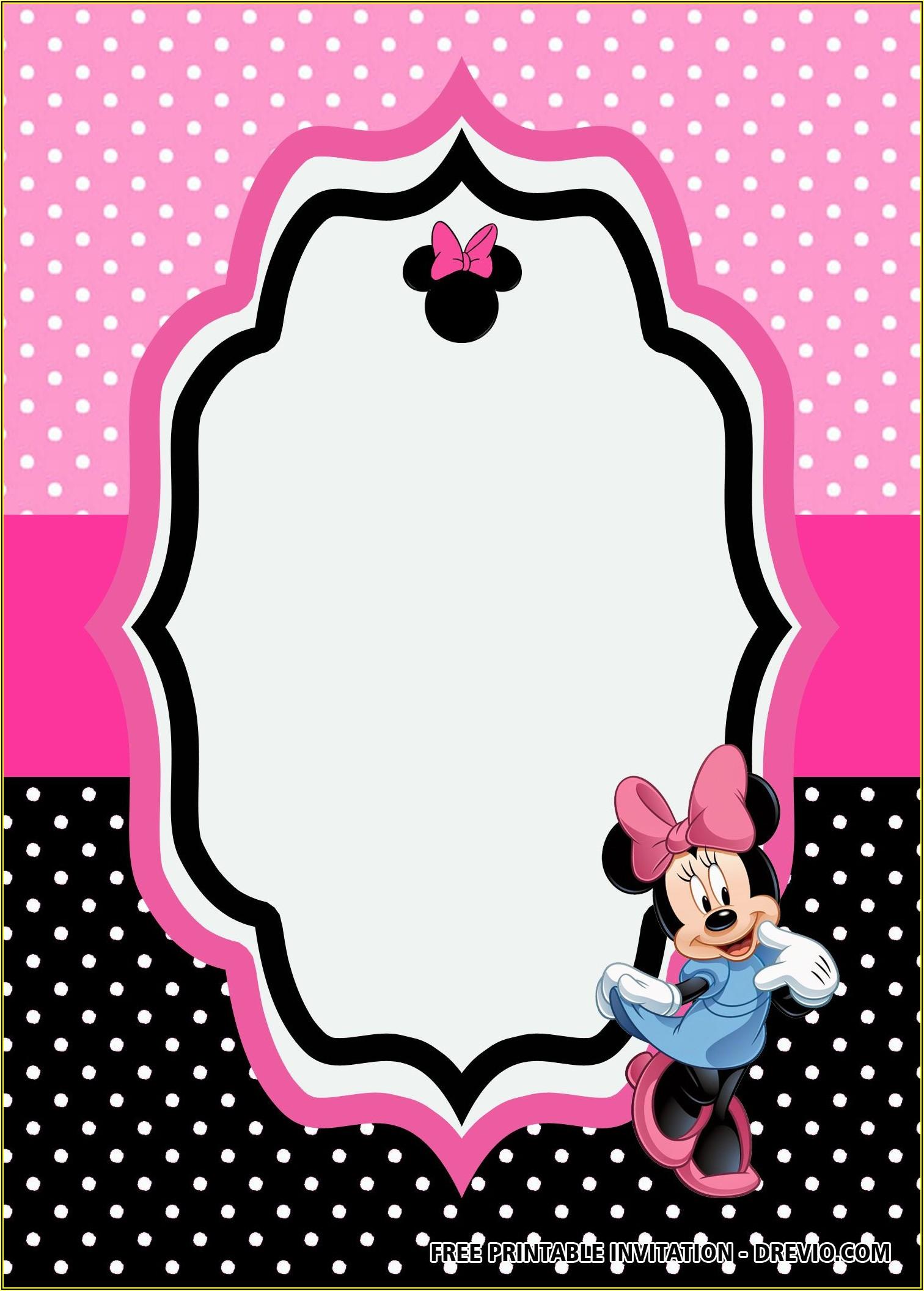 Minnie Mouse Birthday Invitation Templates Free