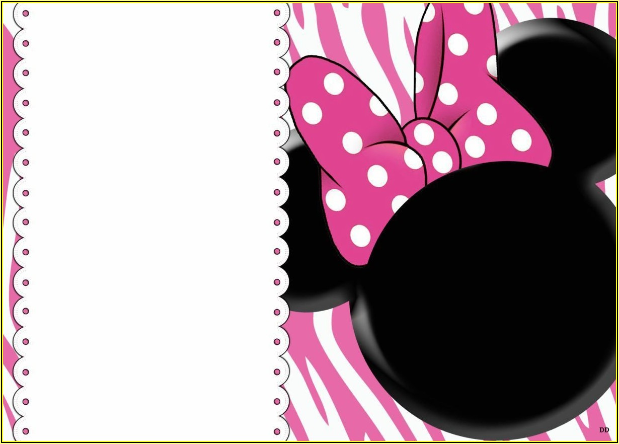 Minnie Mouse Birthday Invitation Templates