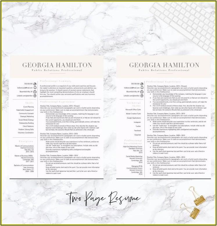 Modern Functional Resume Template Free