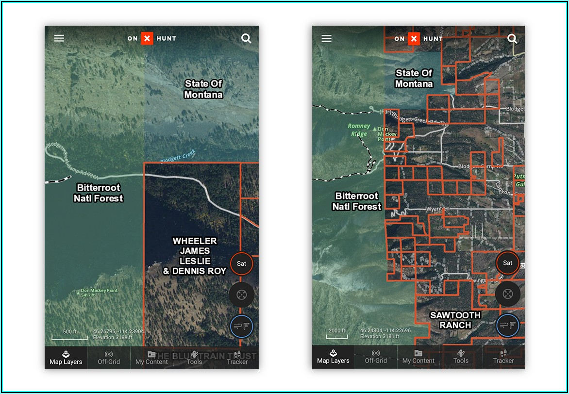 Montana Land Ownership Maps Gps