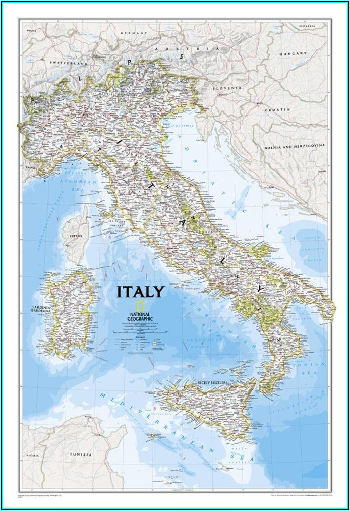 National Geographic Map Of Italy
