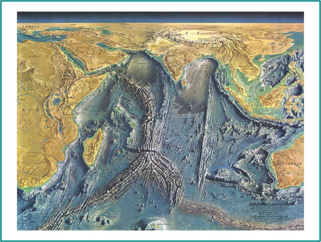 National Geographic Ocean Floor Maps