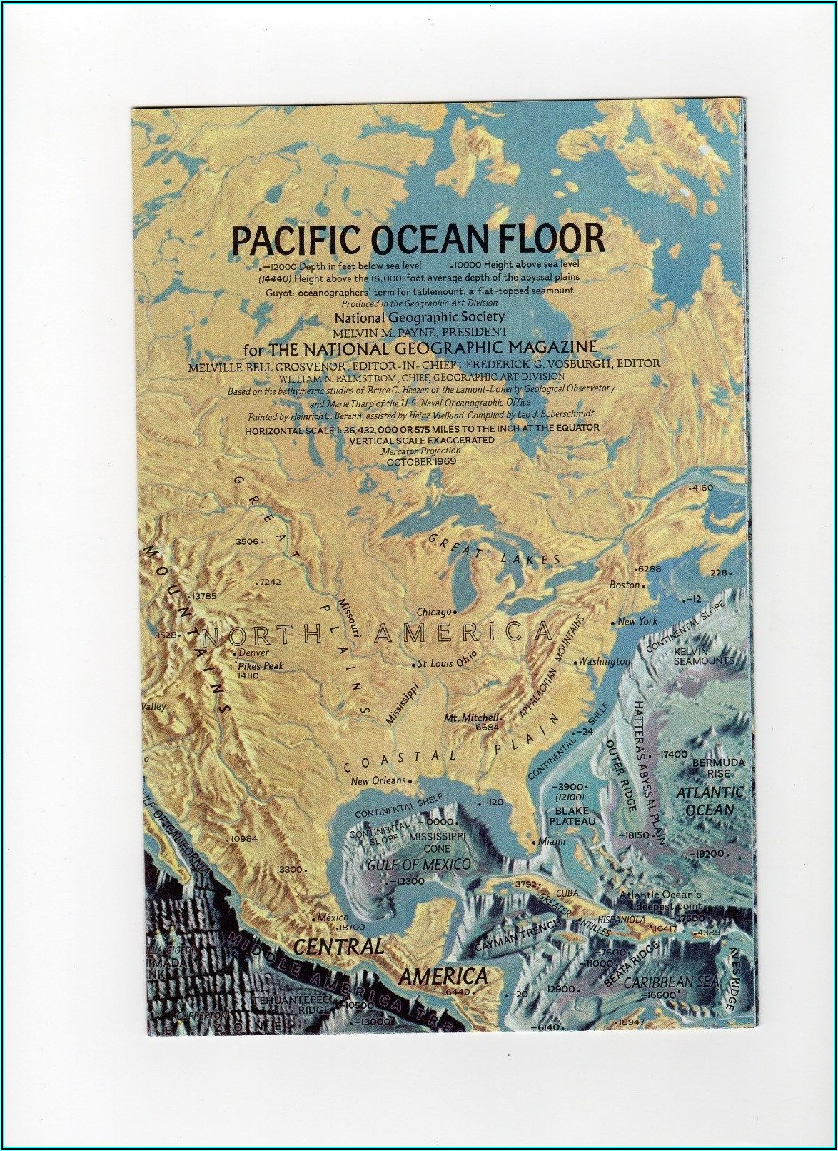 National Geographic Pacific Ocean Floor Map