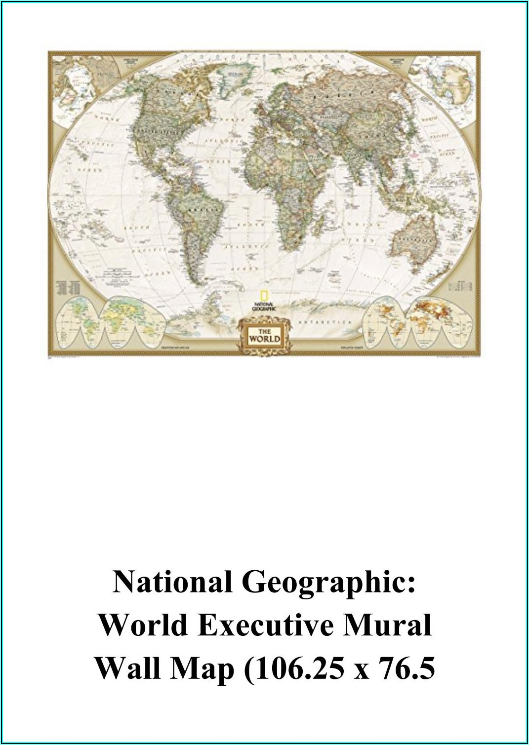 National Geographic World Reference Map