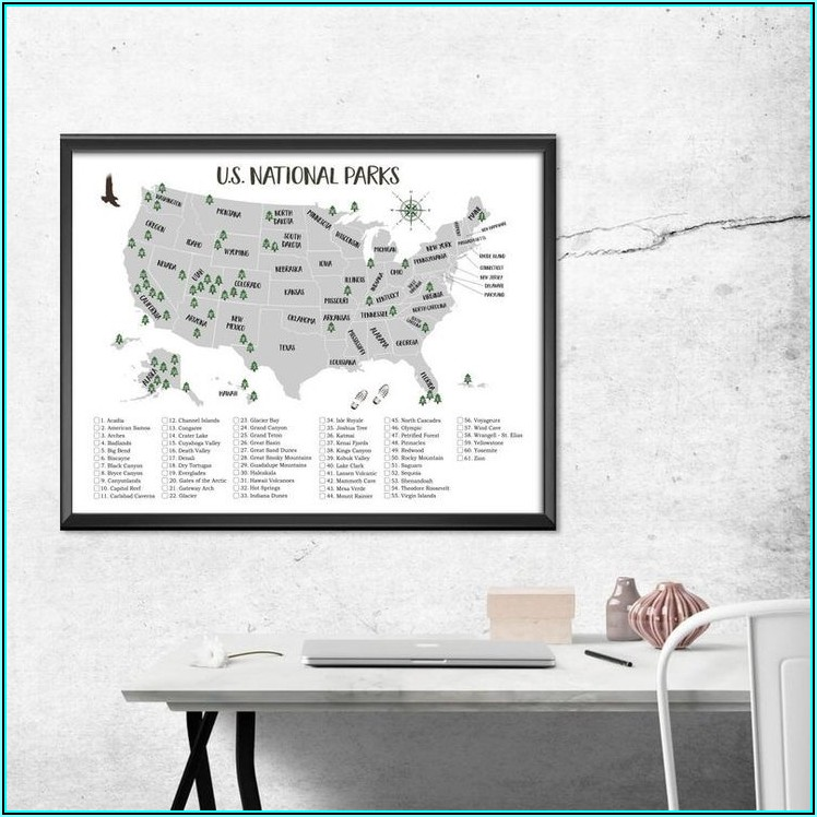 National Parks List Usa Map