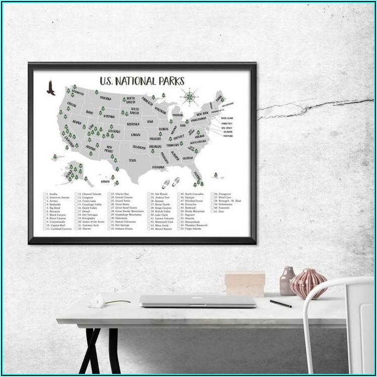National Parks List Usa Map