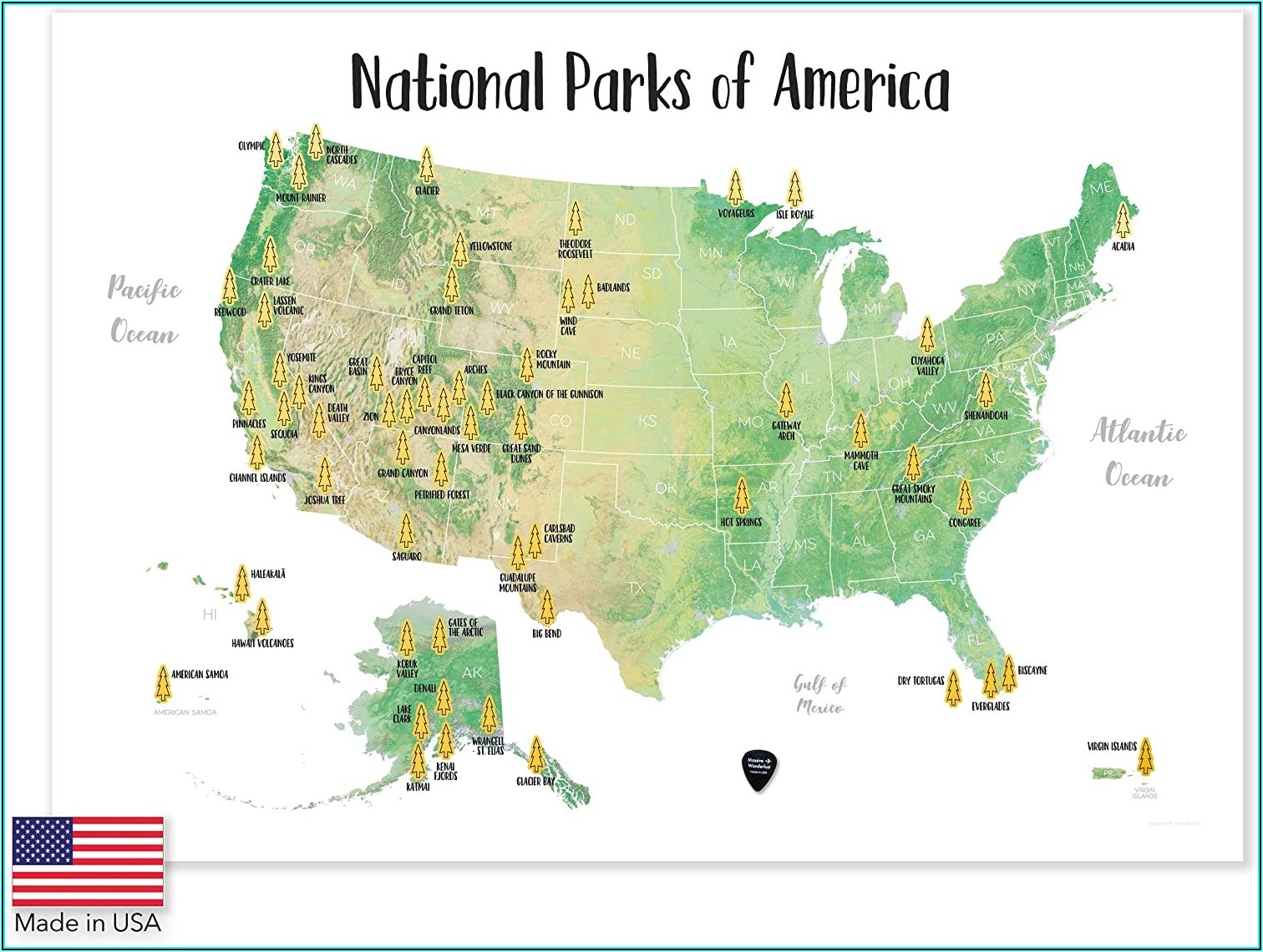 National Parks Of America Scratch Off Map