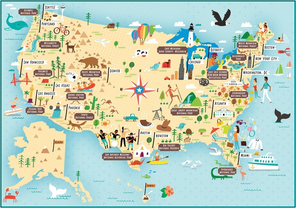 National Parks Of Usa Map