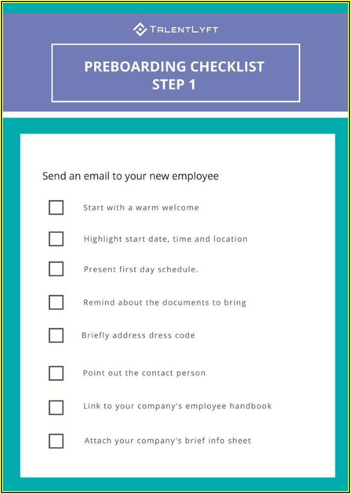 New Employee Onboarding Plan Template