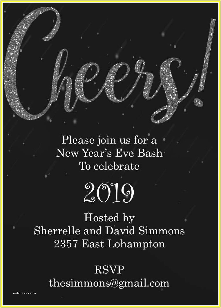 New Year Eve Invitation Templates Free