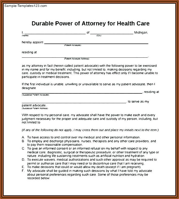 New York Durable Power Of Attorney Form 2019