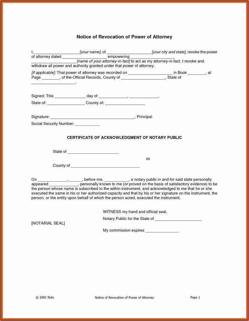 New York State Durable Power Of Attorney Form