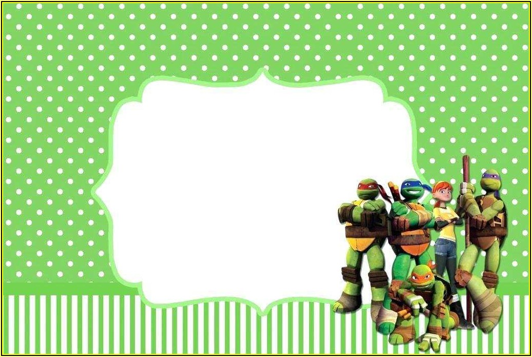 Ninja Turtle Invitation Template Free