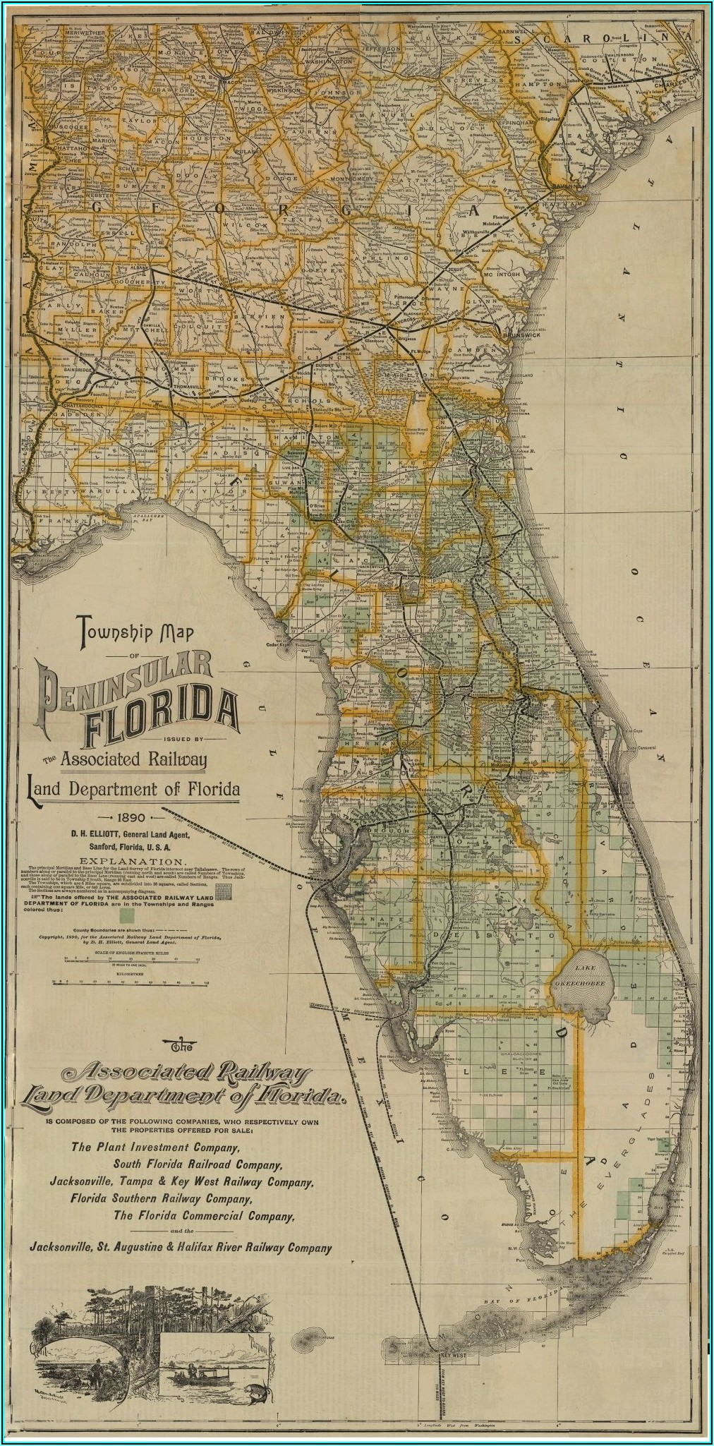 Old Florida Maps For Sale