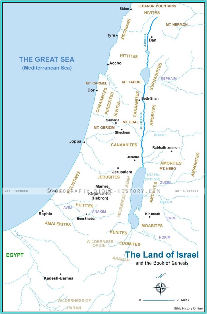 Old Testament Bible Land Maps