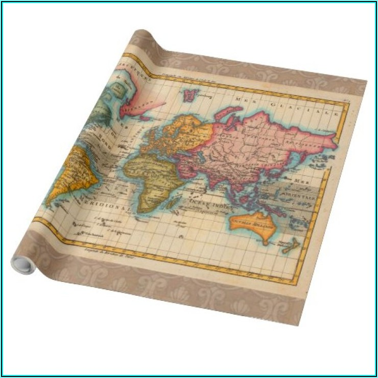 Old World Maps Gift Wrapping Paper