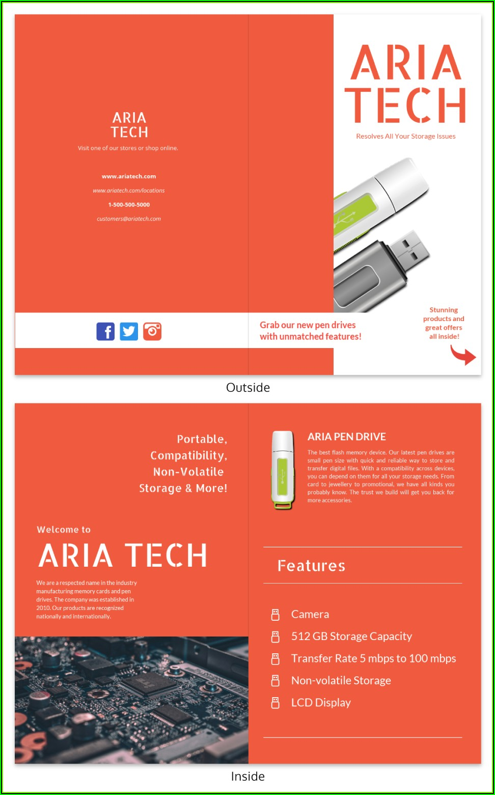 Online Brochure Template Maker