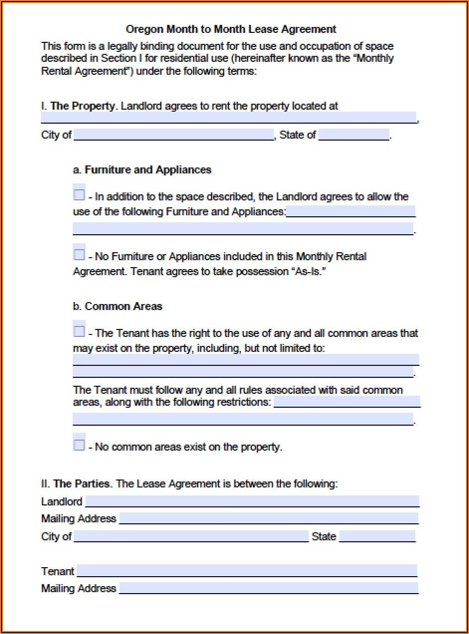 Oregon Rental Forms Free
