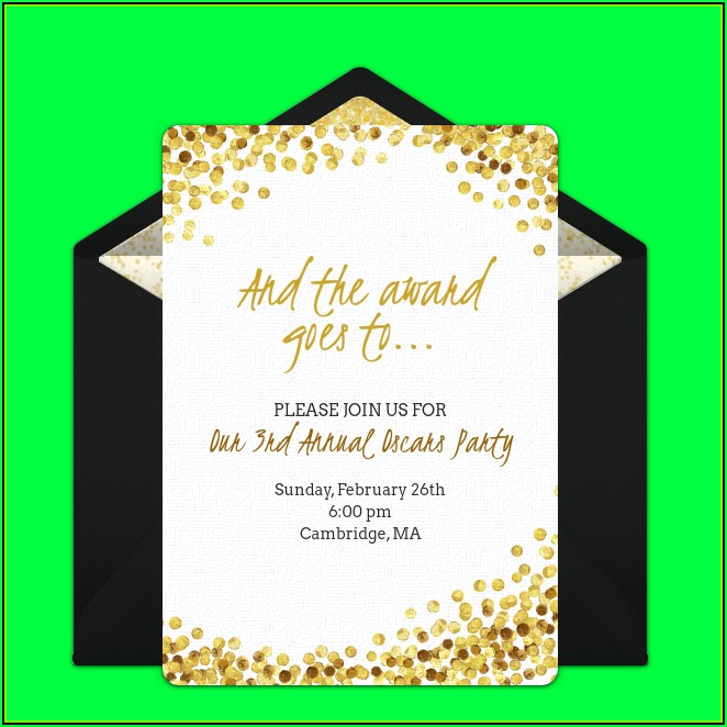 Oscar Invitation Card Template