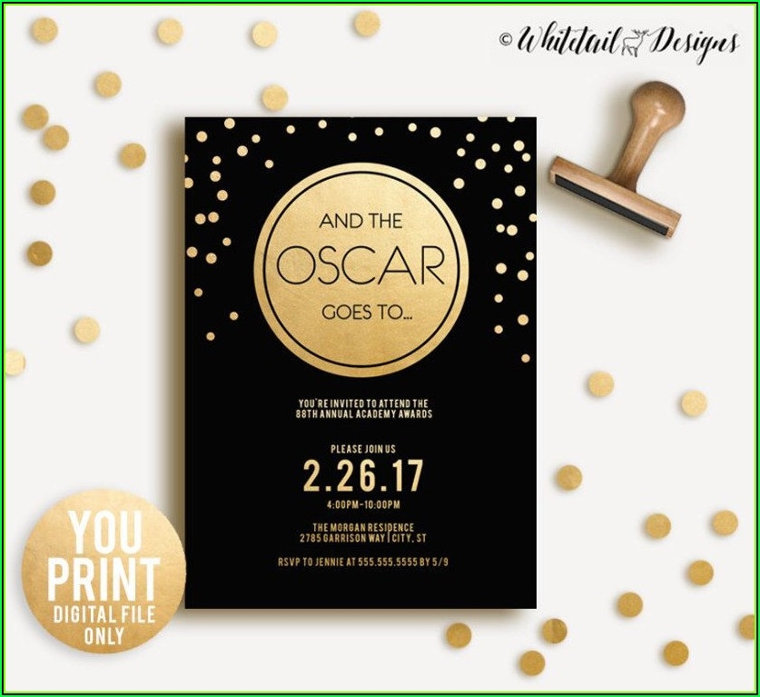 Oscar Night Invitation Template