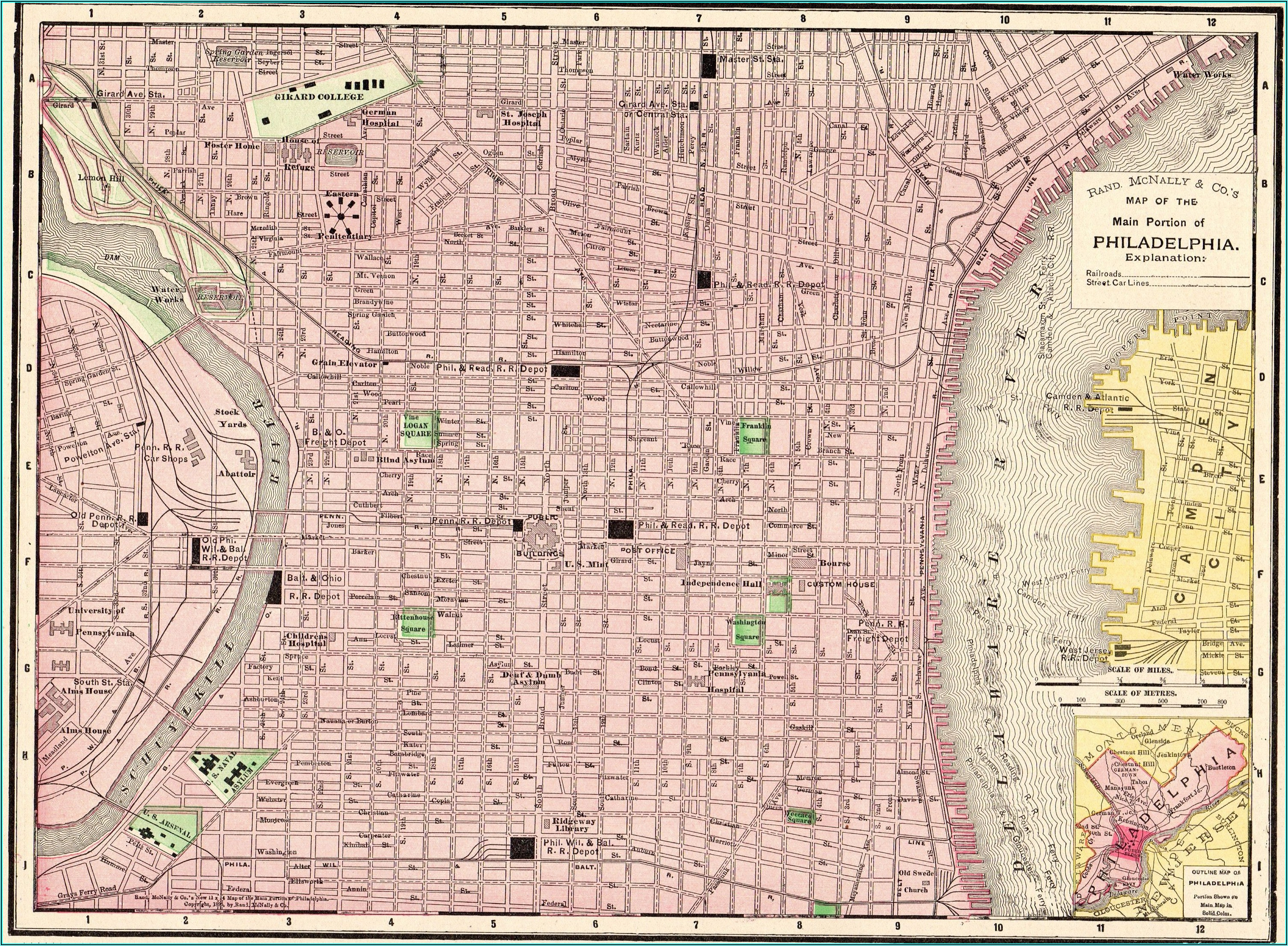 Phila Pa Street Map