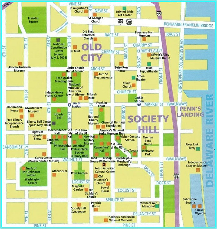 Philadelphia Tourist Map Pdf