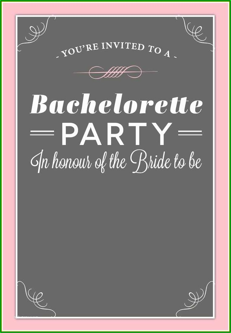 Pink And Black Party Invitation Templates