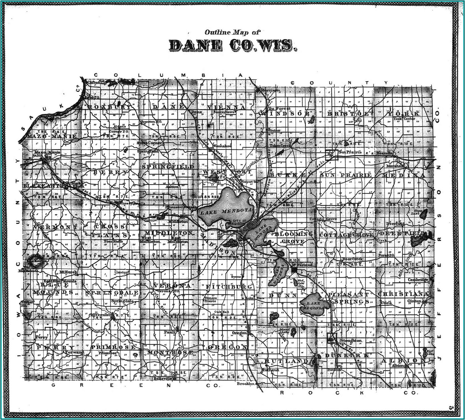 Plat Map Of Dane County Wisconsin