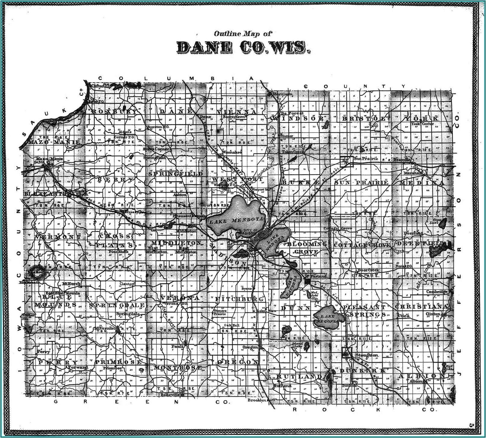 Plat Map Of Dane County Wisconsin