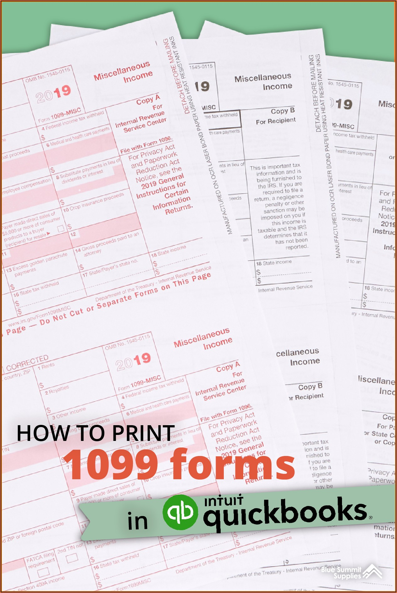 Print 1099 Forms In Quickbooks Online