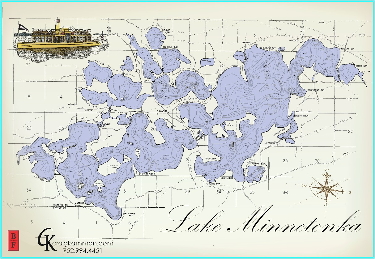 Printable Lake Minnetonka Map