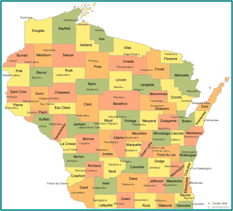 Printable Map Of Dane County Wi