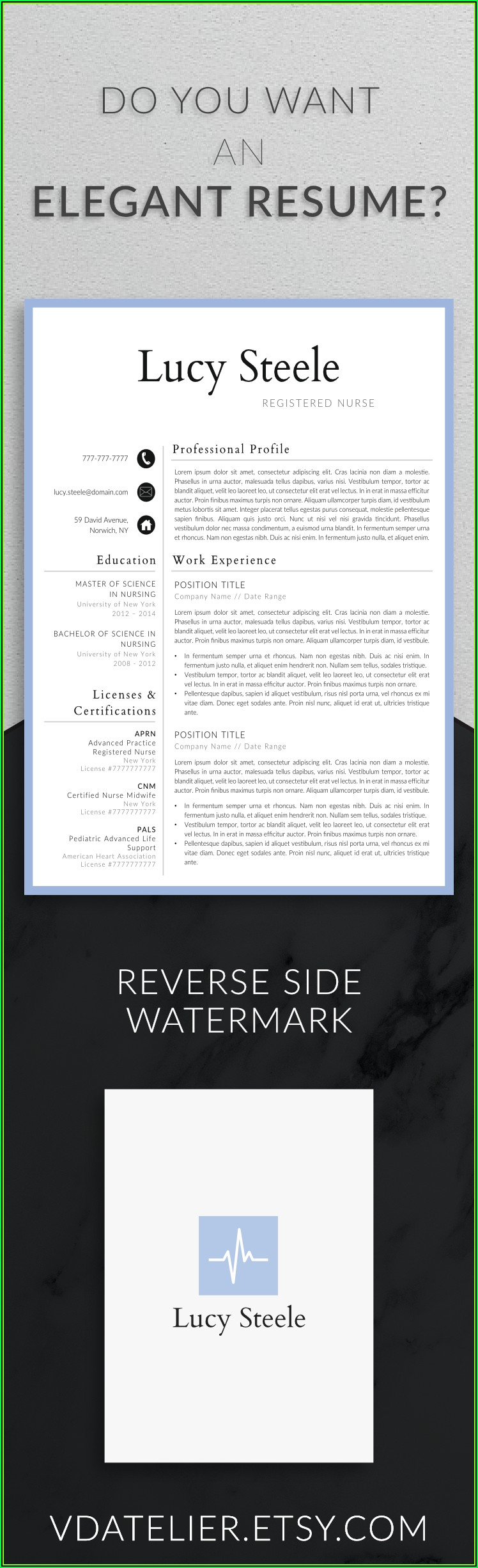 Professional Resume Template For Nurses