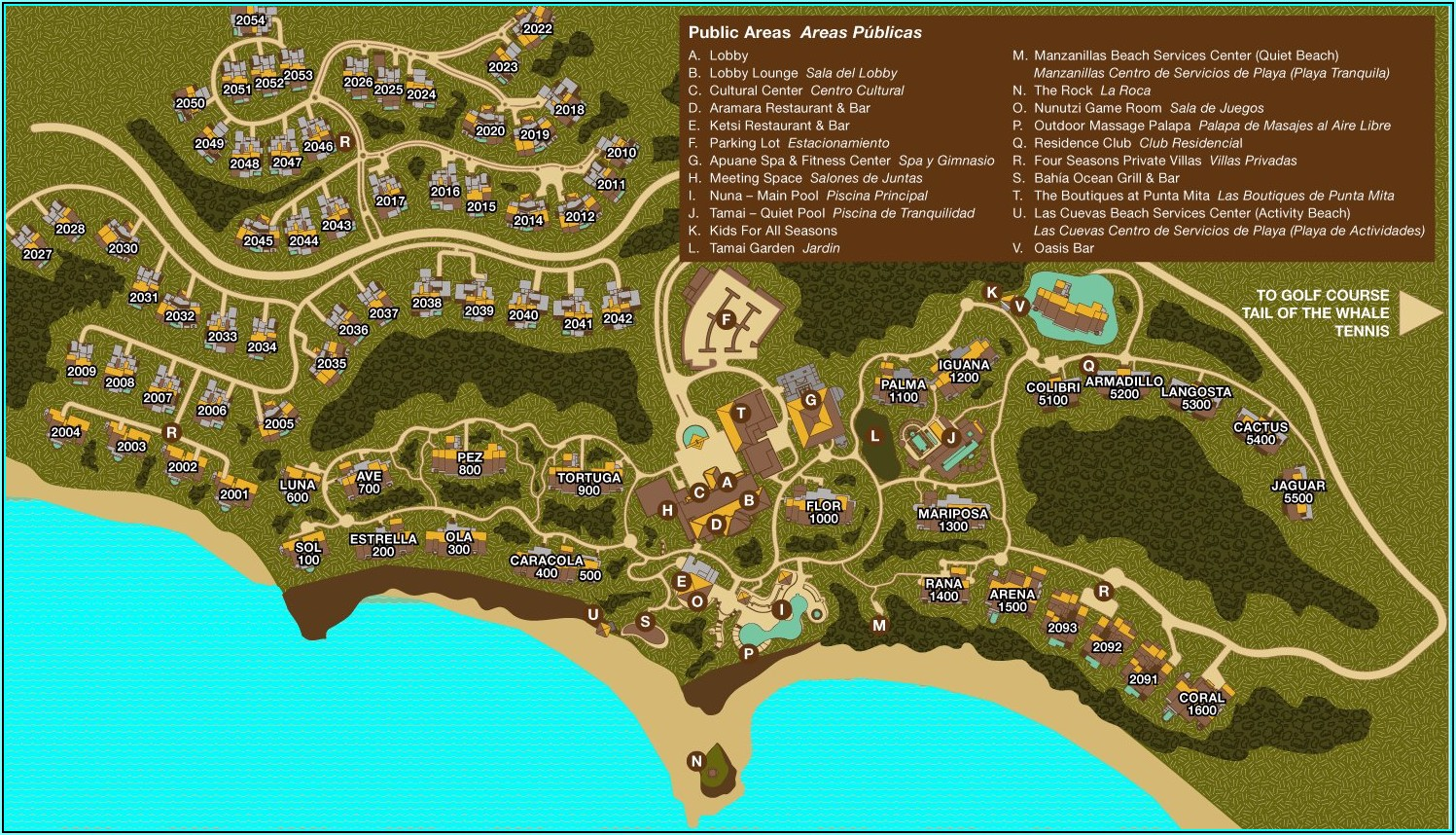 Punta Mita Resort Map