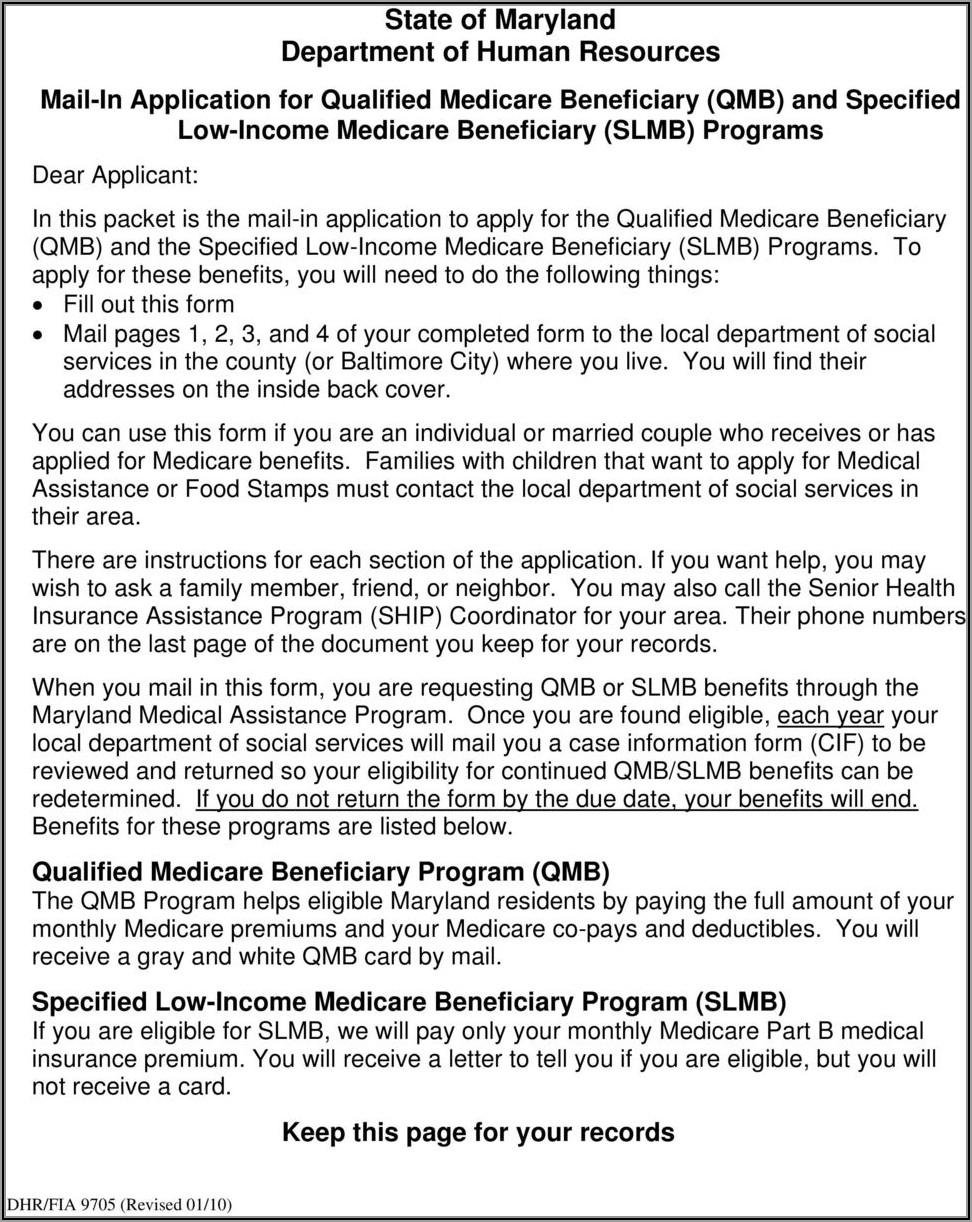 Qmb Application Form Alabama