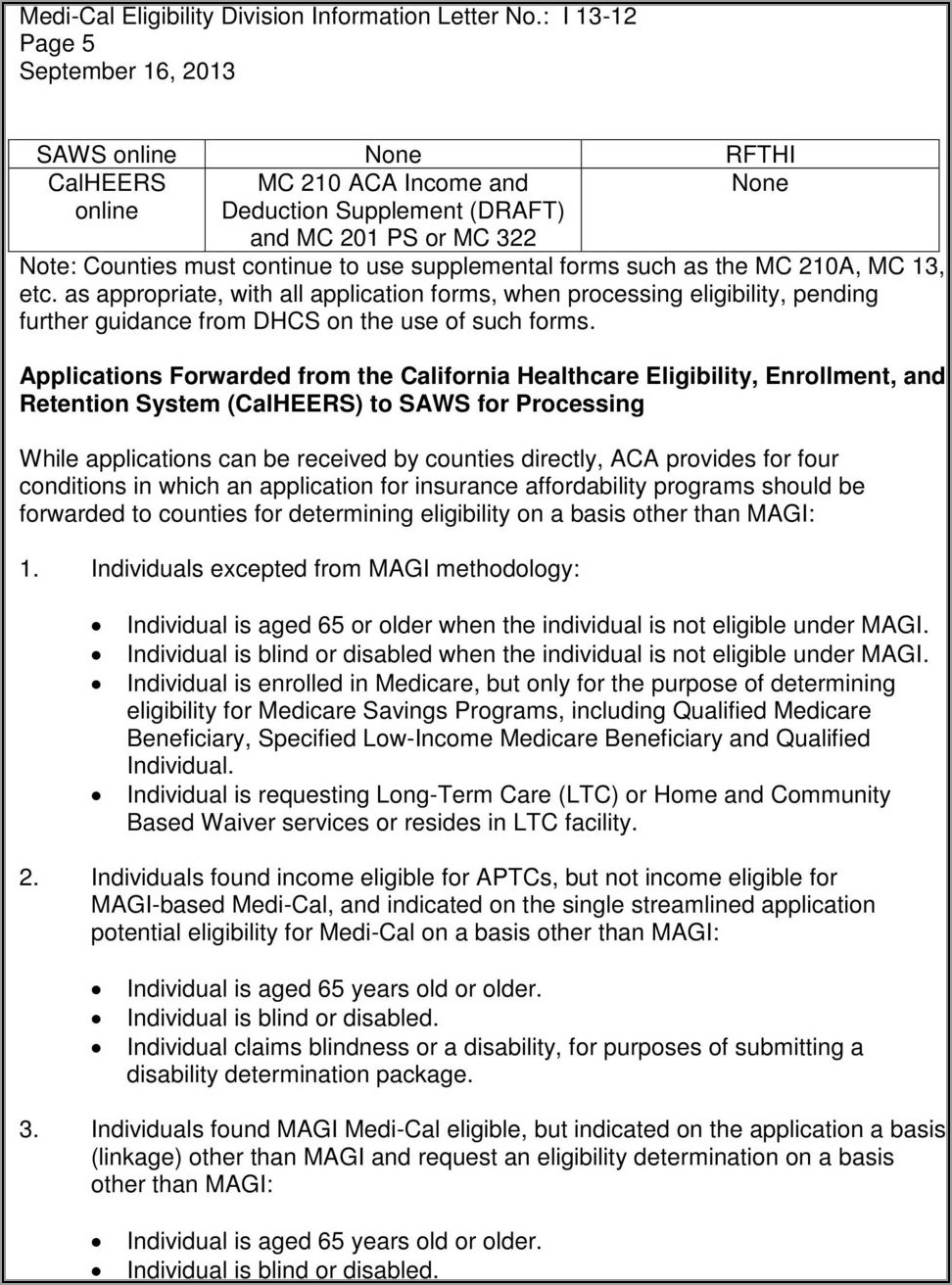 Qmb Application Form California