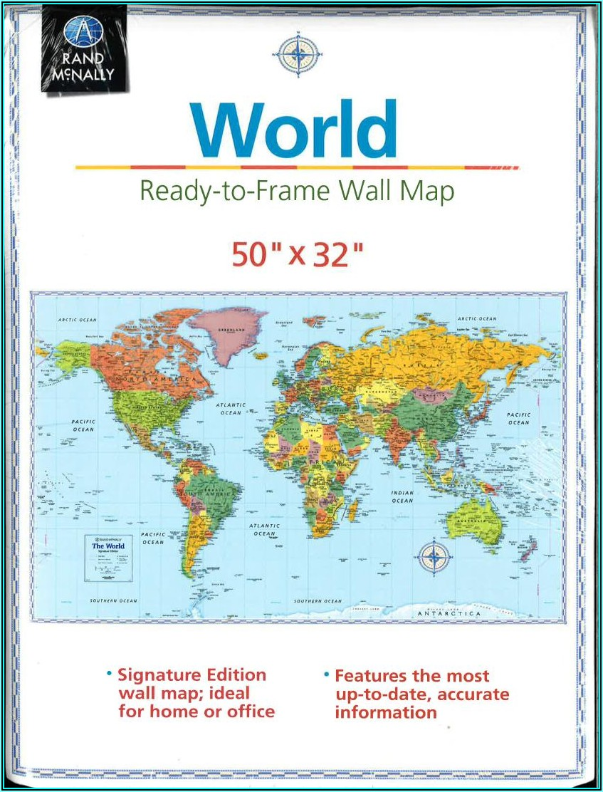 Rand Mcnally Signature Edition World Wall Map