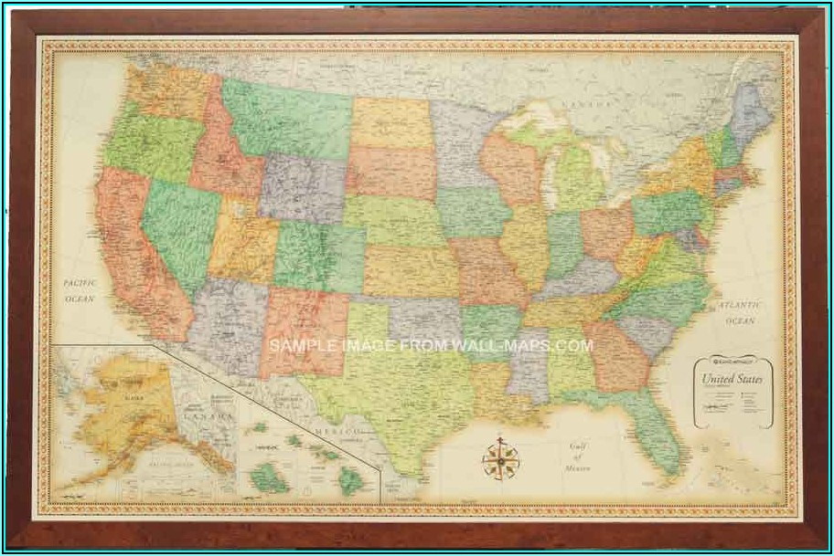 Rand Mcnally Signature World Wall Map Laminated