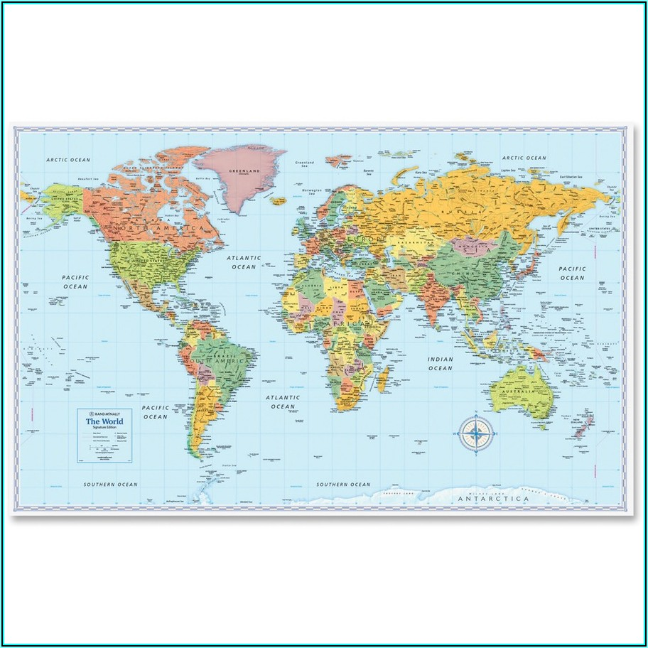 Rand Mcnally World Wall Map 32 Width X 50 Height