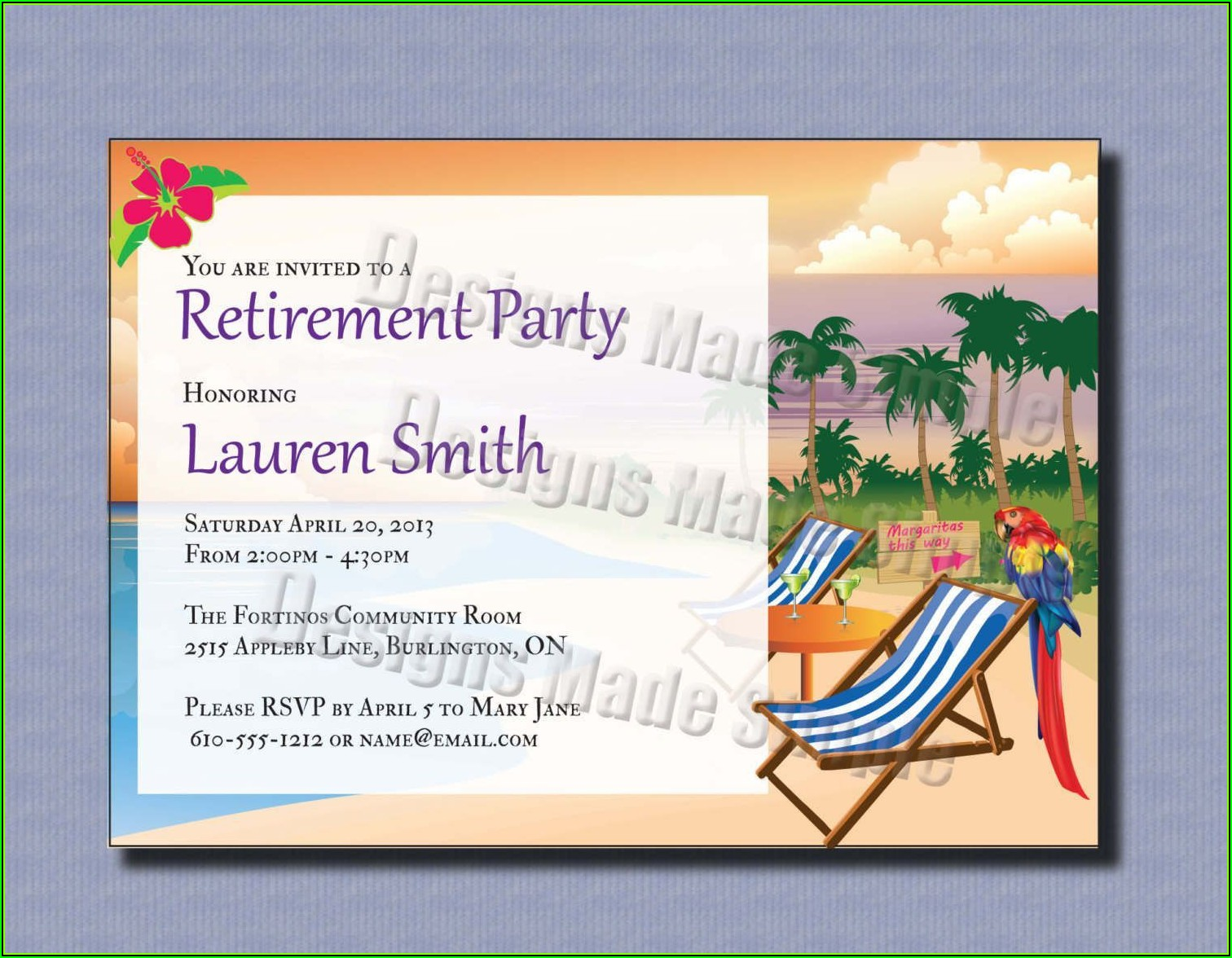 Retirement Luncheon Invitation Template Free