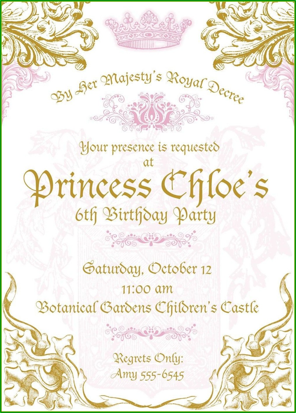 Royal Crown Invitation Template