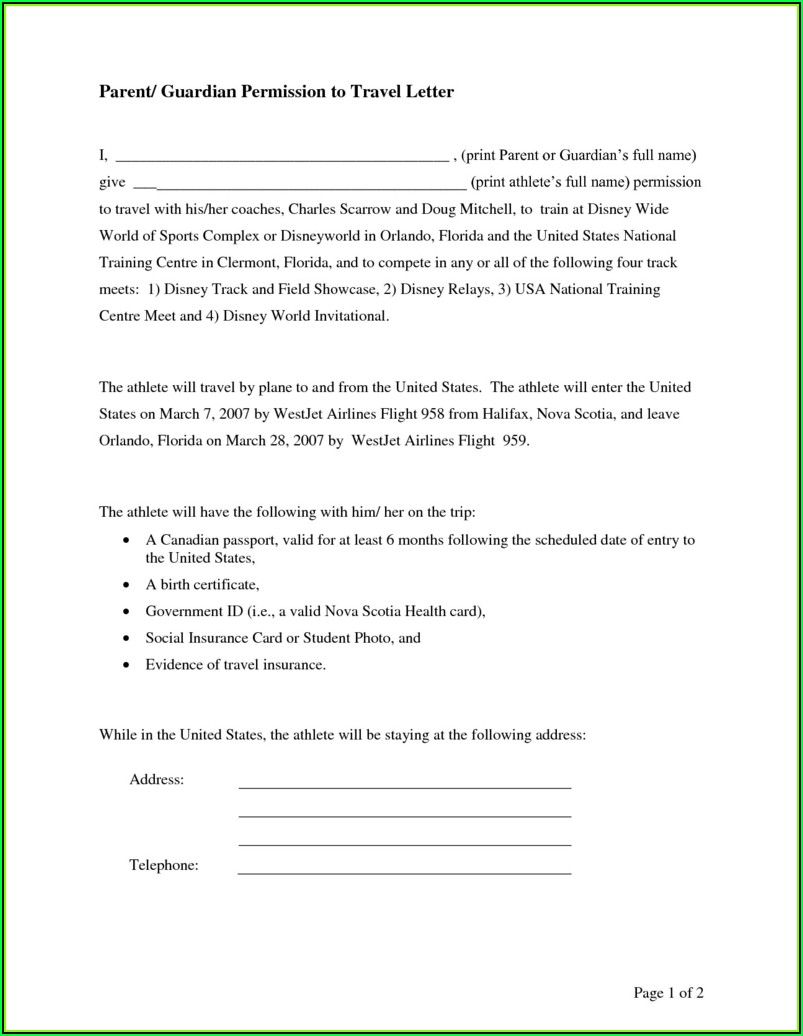 Sample Child Medical Consent Form