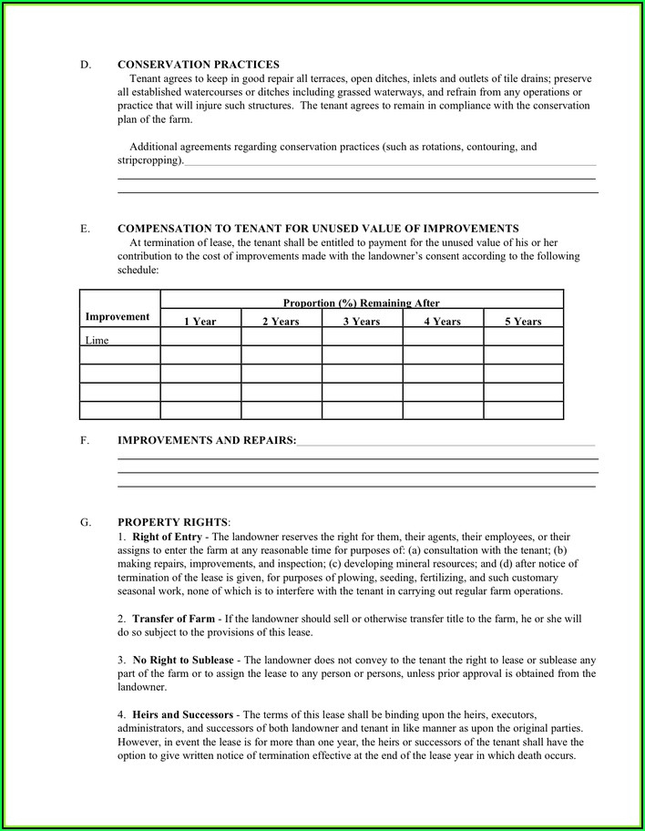 Sample Of Lease Agreement Pdf