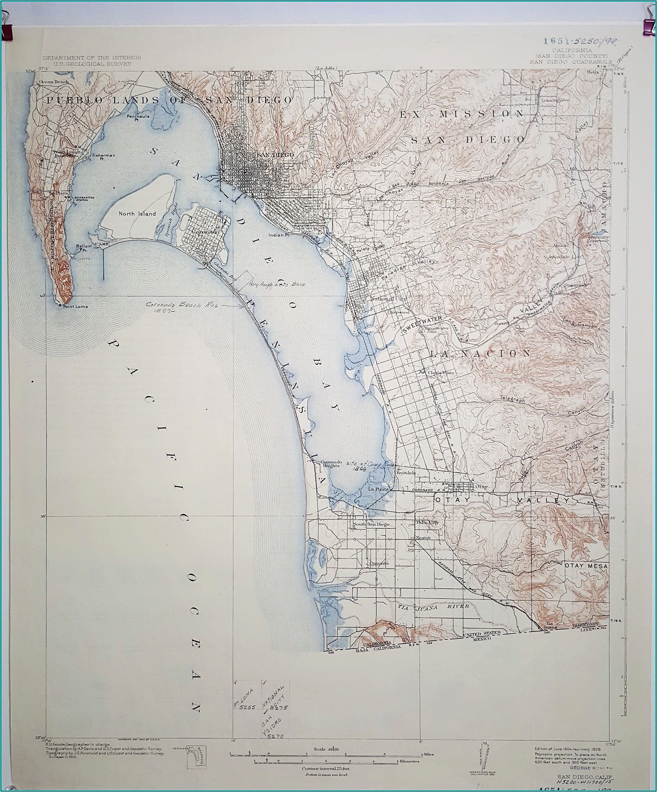 San Diego County Topographic Map
