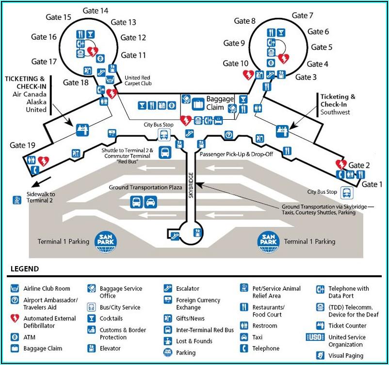 San Diego International Airport Parking Map